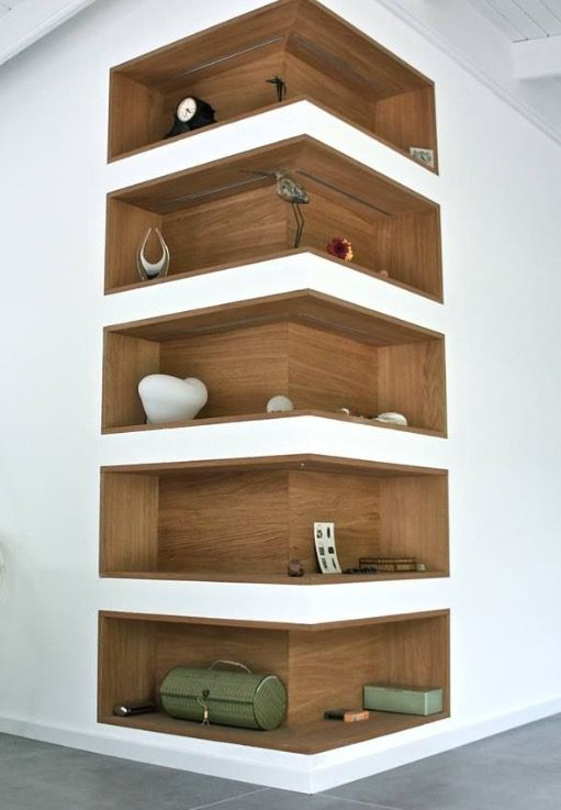 Amazing Gypsum Board Wall Shelves Designs - Dwell Of Decor