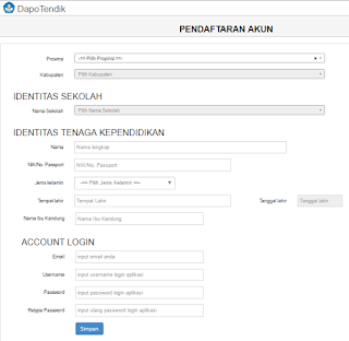 Pendaftaran Aplikasi Dapotendik