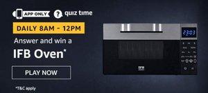Amazon Quiz 23 November Answer - Win IFB Oven