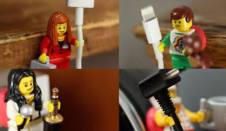 Fotografía de unas figuras de Lego utilizadas para organizar cables