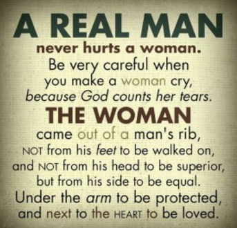 real men don't beat women meme