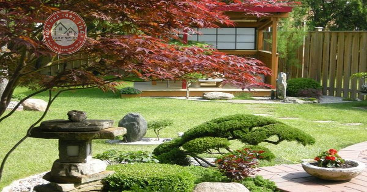 Cách trang trí sân vườn nhỏ với tiểu cảnh