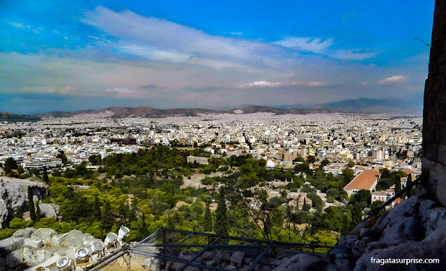 Atenas vista da Acrópole