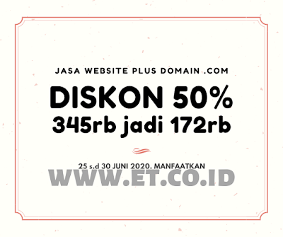 Diskon Promo Jasa Web