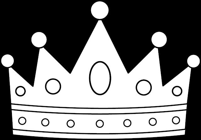 dibujo de corona para pintar