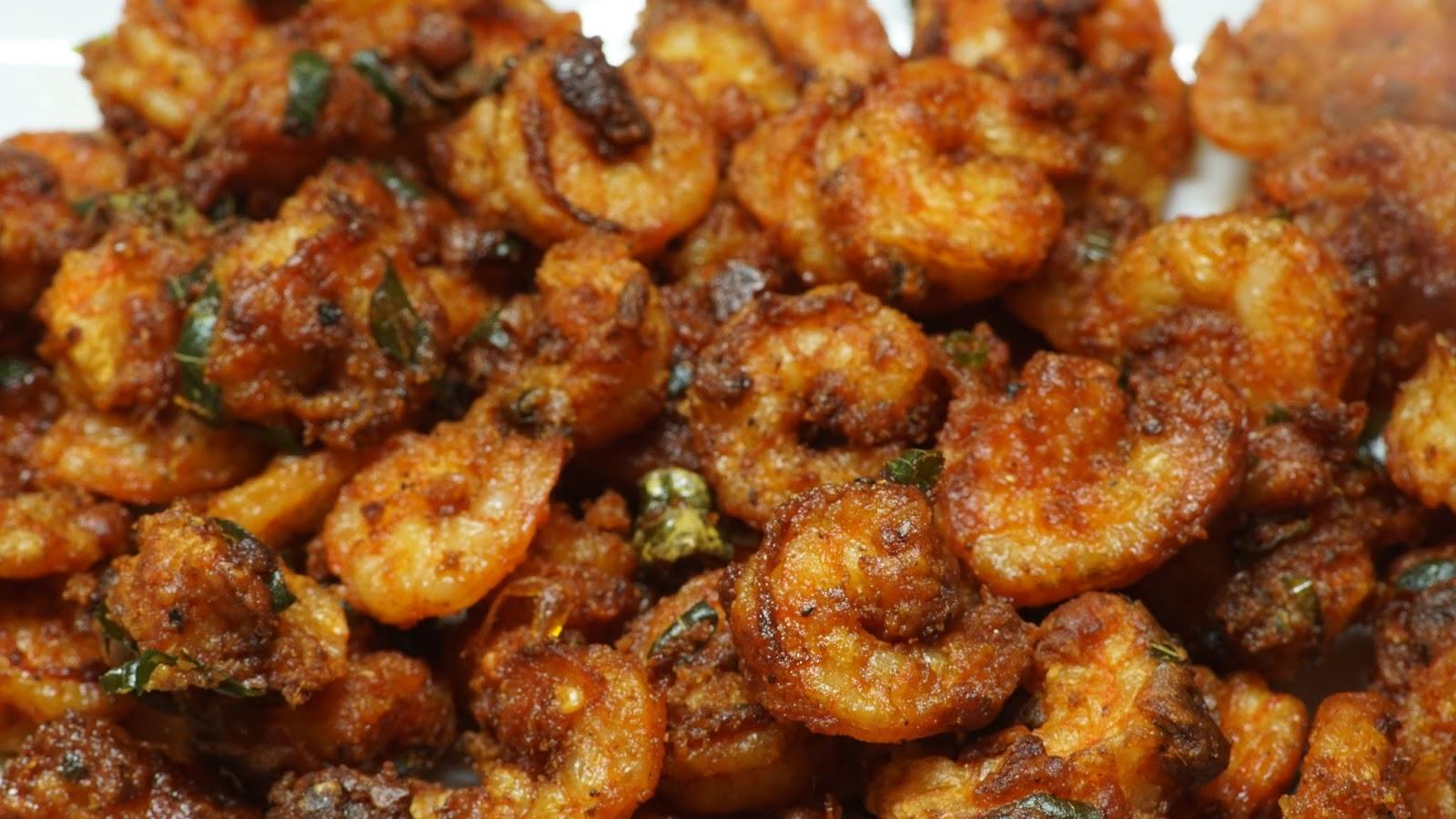 Prawns Fry Recipe Steffi S Recipes