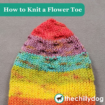 Sock Knitting Video Tutorial: The unconventional shaping of a flower toe is pretty and yields a more anatomical fit than a traditional wedge toe.
