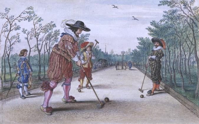 Homens jogando Pall Mall