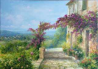 casas-coloniales-florales-pintadas