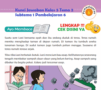 Kunci Jawaban Kelas 5 Tema 2 Subtema 1 Pembelajaran 6 www.simplenews.me