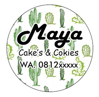hasil akhir pembuatan label cake's dan cokies