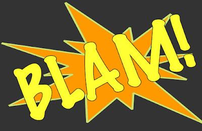 Comicbook Sound Effect SFX Text - Blam