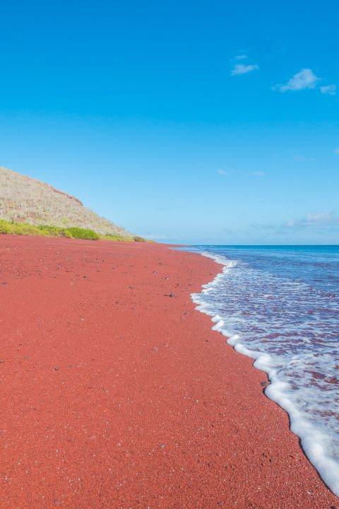 The Red sand beach, Galapagos