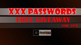Free porn accounts giveaways of the best xxx passwords