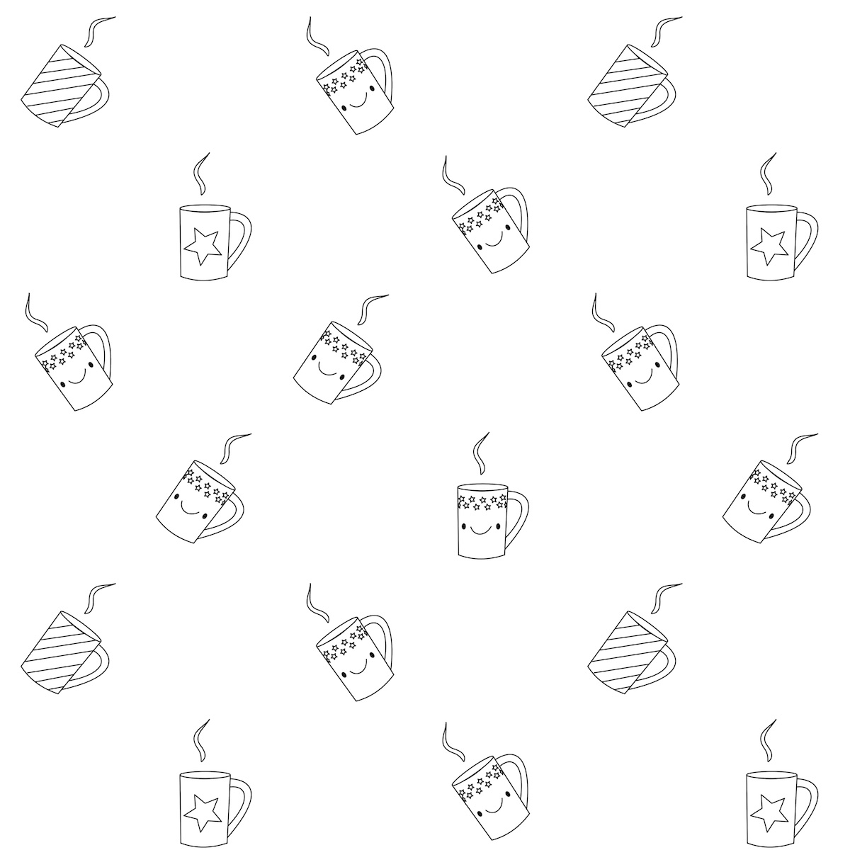 Free Printable Coffee Coloring Pages Sketch Coloring Page
