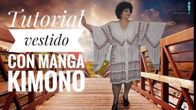 Tutorial vestido mangas kimono