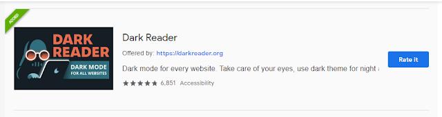 Dark Reader for Dark All Website in Your Browser