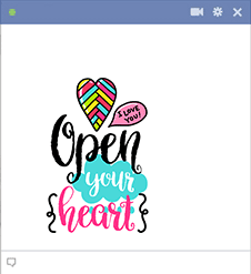 Open Heart Sticker Facebook