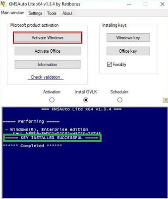 cara aktivasi windows secara offline