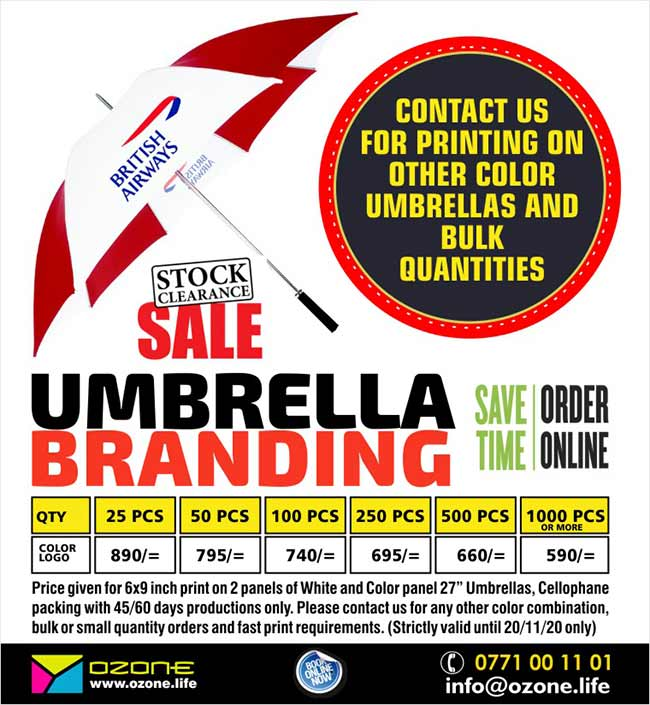 Umbrella Branding with your Logo