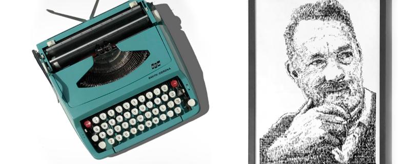 James Cook, crea paisajes y retratos con una máquina de escribir