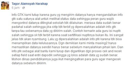Penyebab Website Resmi Info GTK Kemdikbud Ditutup