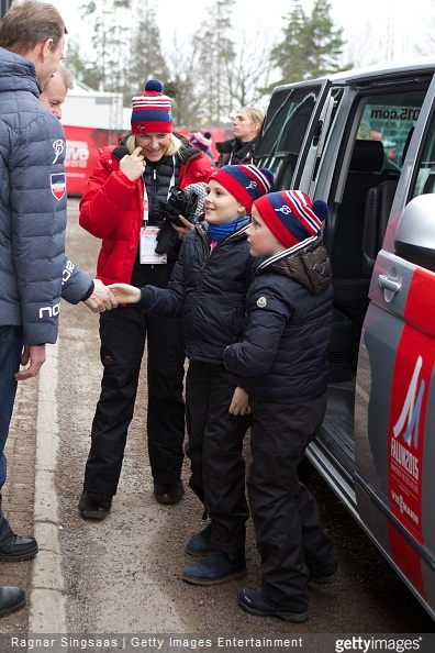 Princess Ingrid Alexandra of Norway, Crown Princess Mette-Marit of Norway and Prince Sverre Magnus of Norway attended the FIS Nordic World Ski Championships