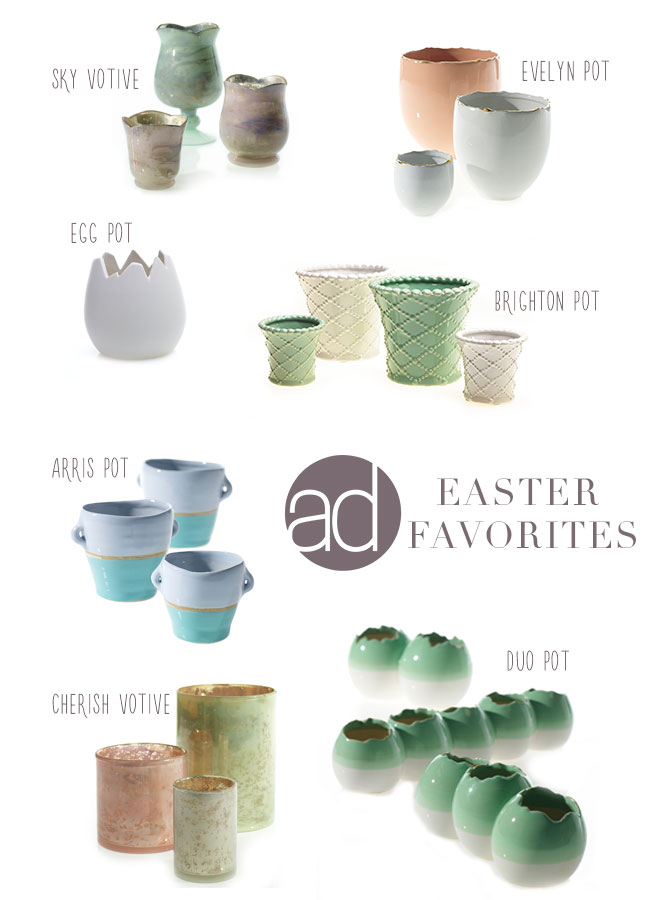 Accent Decor wholesale Easter vases and votives