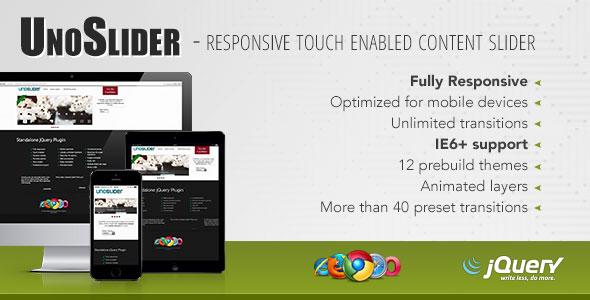 UnoSlider Responsive Touch Enabled Slider Wordpress plugin