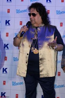 Gracy Singh and Bappi Lahiri   Blue Mountain Music Launch IMG 0683.JPG