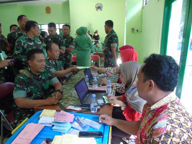 Kodim Karanganyar - Kodim Karanganyar Sambut HUT TNI ke - 74 Dengan Melaksanakan Donor Darah