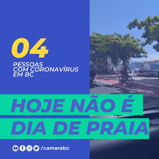 O número de infectados na cidade de Balneário Camboriú está subindo