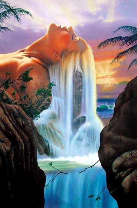 Ilhas dos Sonhos - Jim Warren pinta sonhos e ilusões de maneira fantástica.