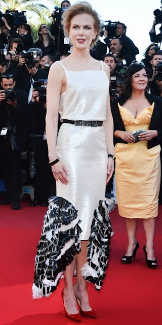 Nicole Kidman in Chanel Resort 2014 and Christian Louboutin 'Decollete 554′ pumps in Cannes 2013