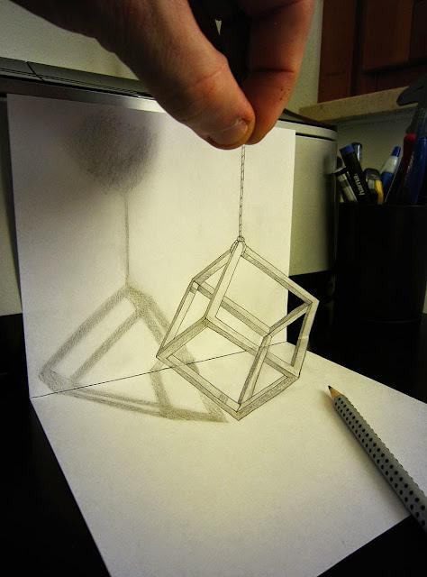 3D crtež olovkom