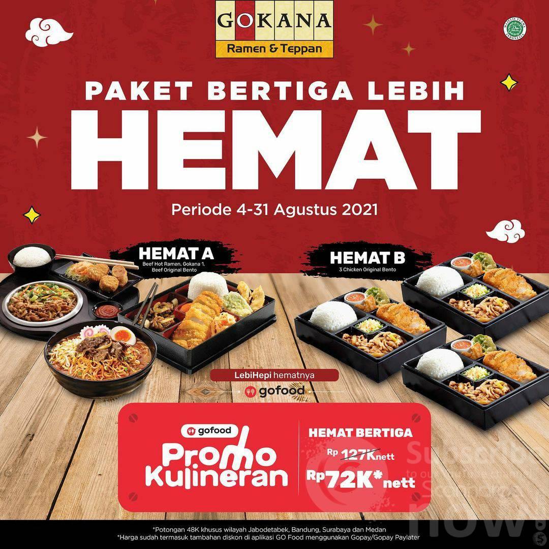 GOKANA Promo Paket Hemat Bertiga! Kulineran Bareng Gofood*