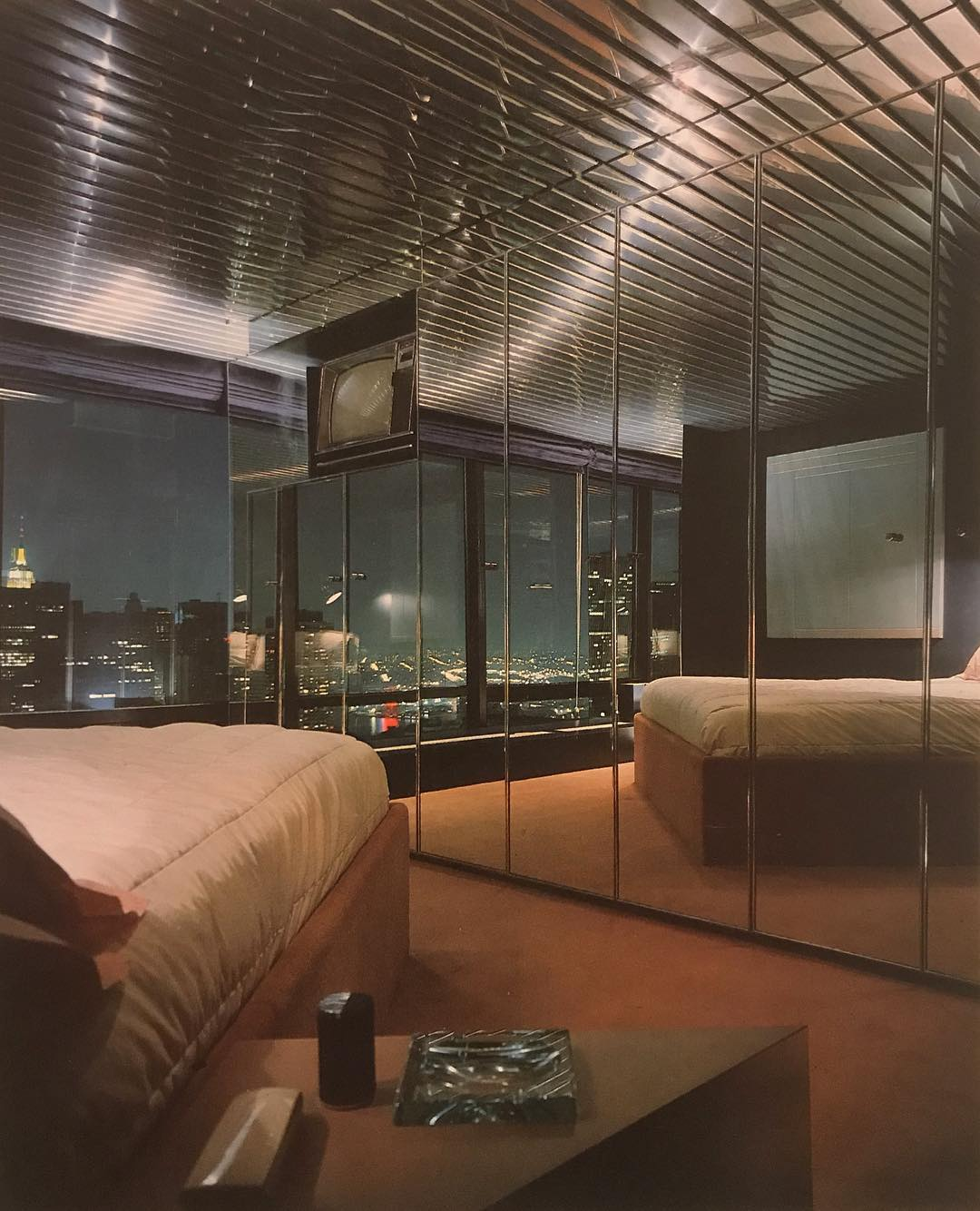 80s Gotham bedroom. | The Media Design Book - Philip Mazzurco 1984. Scanned by @the_80s_interior. | decor, interiors, aesthetic, design, inspiration, NYC, 80s, vintage, chic | Allegory of Vanity
