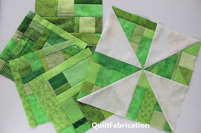 RSC January green scrap pinwheels