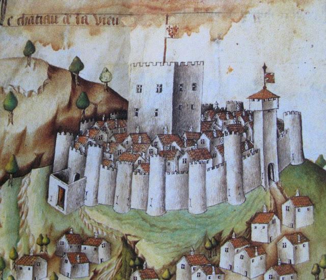 No topo dos morros para escapulir dos bárbaros, passaram a construir defesas com pedras.