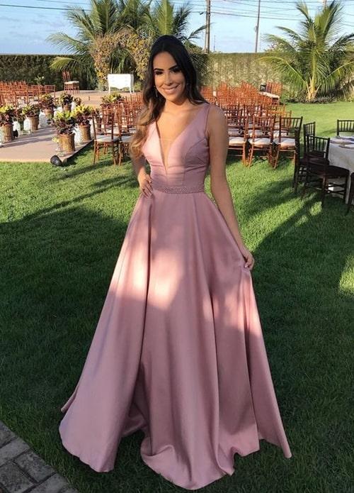 vestido rosa blush para madrinha de casamento