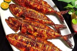Ikan kembung bakar manis pedas
