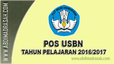 POS USBN Tahun pelajaran 2016/2017