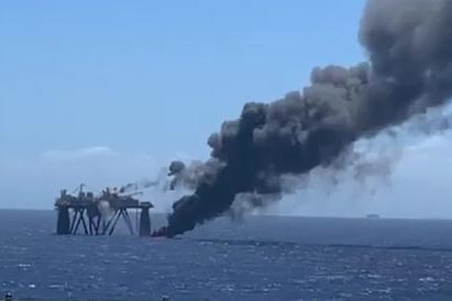 Óleo no queimador de gás da P-65 causou grande nuvem de fumaça na Bacia de Campos