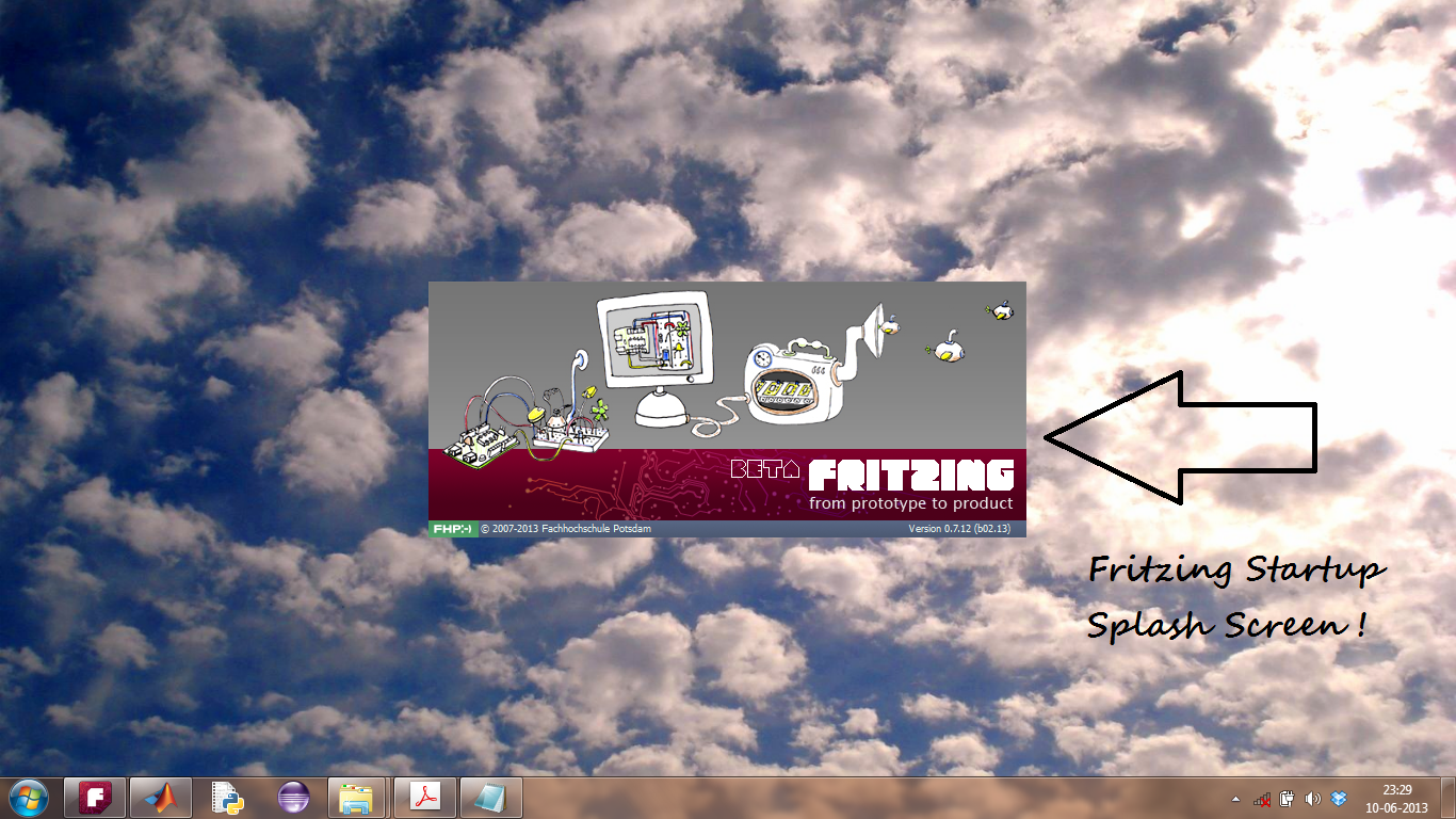 Fritzing Software Splash Screen