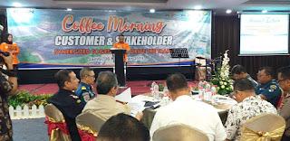 GM Pelindo II Membuka Secara Resmi Coffee Morning Custumer Dan Stakeholder Dengan Sukses.