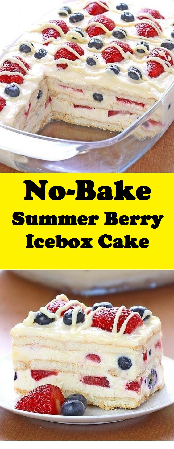 No-Bake Summer Berry Icebox Cake