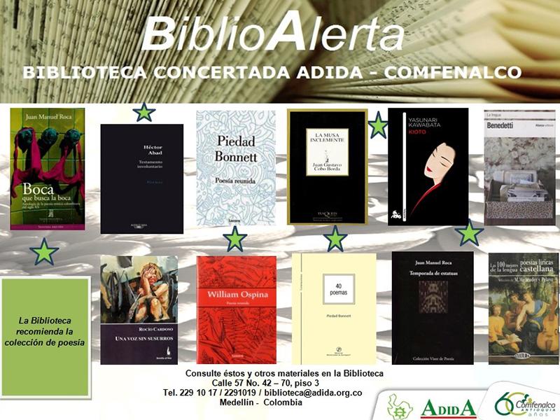 BiblioAlerta el boletín de la Biblioteca concertada ADIDA Comfenalco septiembre