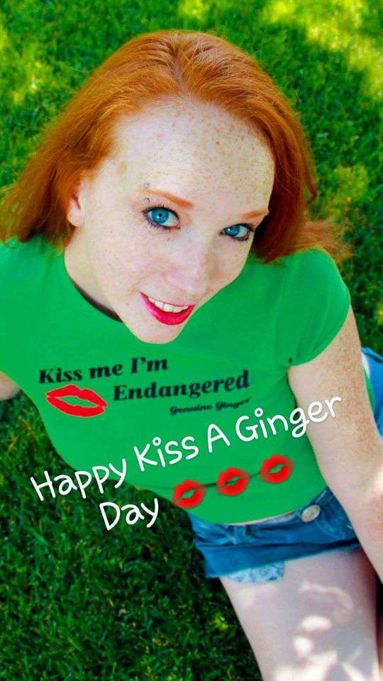 Kiss a Ginger Day Wishes Lovely Pics
