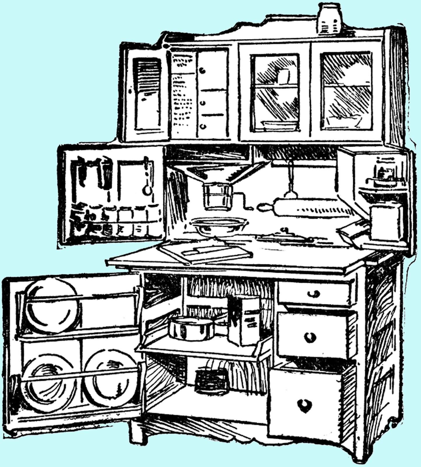 Kitchen Cabinet Clip Art: **FREE ViNTaGE DiGiTaL STaMPS**: Free Digital Stamp