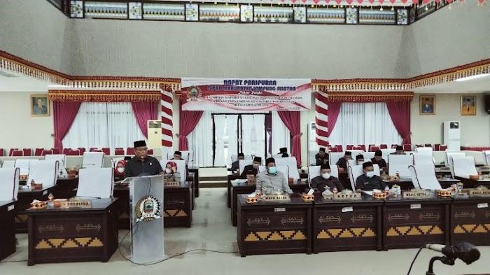 Ketua Komisi IV DPRD Lamsel Sampaikan Pandangan Umum Terhadap Pemkab